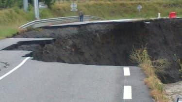Les dégâts sont considérables, comme ici à Villelongue (Hautes-Pyrénées).