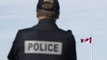 Un policier canadien - Image d'illustration