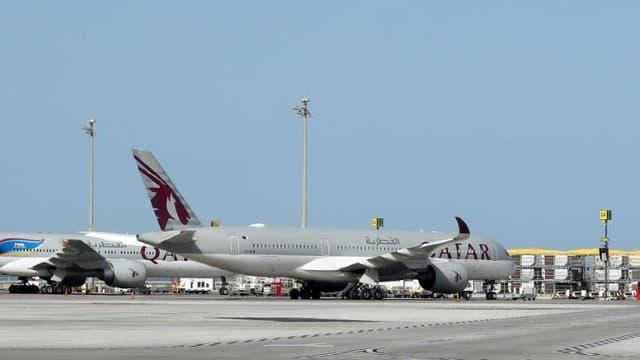 Des avions sur le tarmac de l'aéroport de Doha, au Qatar, le 1er avril 2020 (Photo d'illustration)