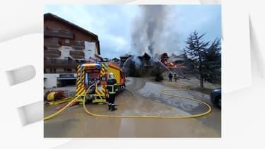 Un incendie a ravagé un ensemble de chalets dans la station d'Auron, dans les Alpes-Maritimes, le 29 février 2020