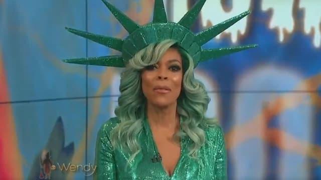 """Wendy Williams dans son émission """"The Wendy Williams Show"""", le 31 octobre 2017"""