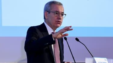Le président d'Engie Jean-Pierre Clamadieu lors de la présentation des résultats 2019 à La Defense dans les Hauts-de-Seine, le 27 février 2020
