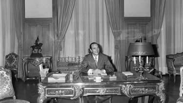 Jacques Chirac à l'Hôtel de Ville de Paris en 1977. - AFP