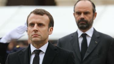 Emmanuel Macron et Édouard Philippe - Image d'illustration