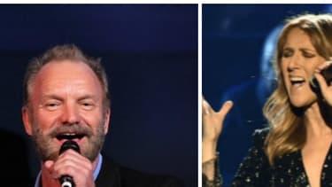 Sting, Céline Dion et Renaud