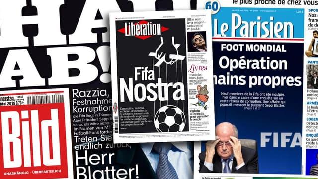 La presse se lâche sur le scandale de la Fifa, ce jeudi 28 mai.
