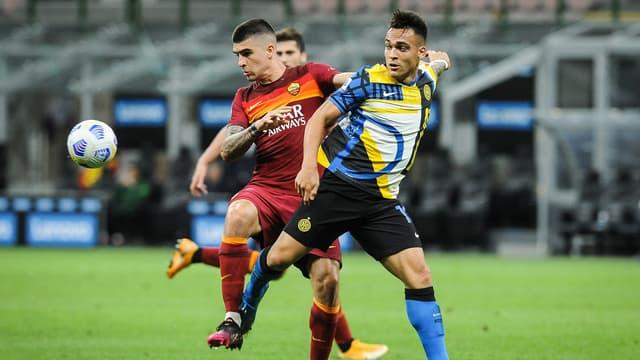 Lautaro Martinez face à la Roma lors de la 36e journée