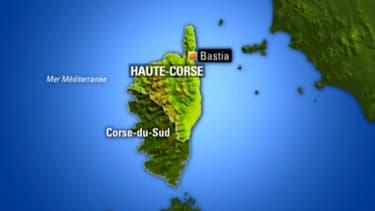 La carte de Corse