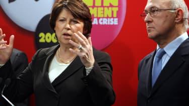 Martine Aubry et Michel Sapin, deux anciens ministres du Travail.