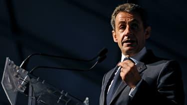 Nicolas Sarkozy lors de la Fête de la Violette du parti Les Républicains, le 4 juillet 2015.