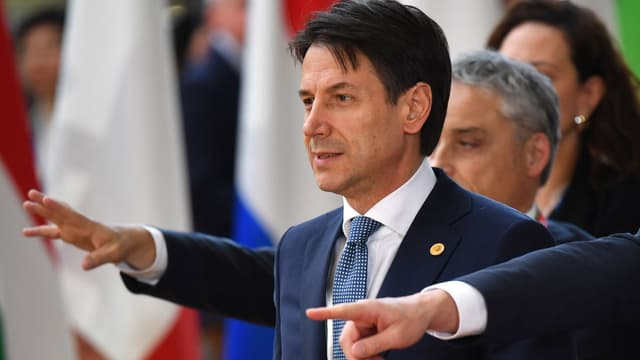 Giuseppe Conte à son arrivée à Bruxelles (Belgique) pour le sommet européen, le 28 juin 2018
