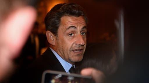 Nicolas Sarkozy lors du concert de son épouse, en avril, à New-York
