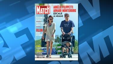 La une de Paris Match paru ce jeudi 16 février, avec le couple Montebourg Filippetti.