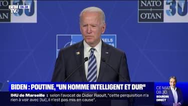 """""""C'est un homme intelligent et dur"""": Joe Biden à propos de Vladimir Poutine avant leur rencontre ce mercredi"""