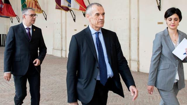Carlo Cottarelli arrivant à la présidence à Rome, le 28 mai 2018.