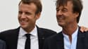 Emmanuel Macron et Nicolas Hulot à Plévenon (Côtes d'Armor), le 20 juin 2018.