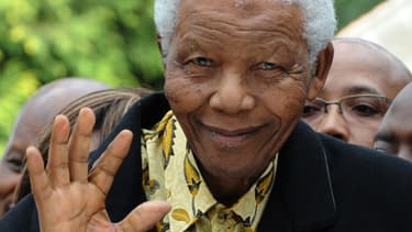 Nelson Mandela, le 22 avril 2009.