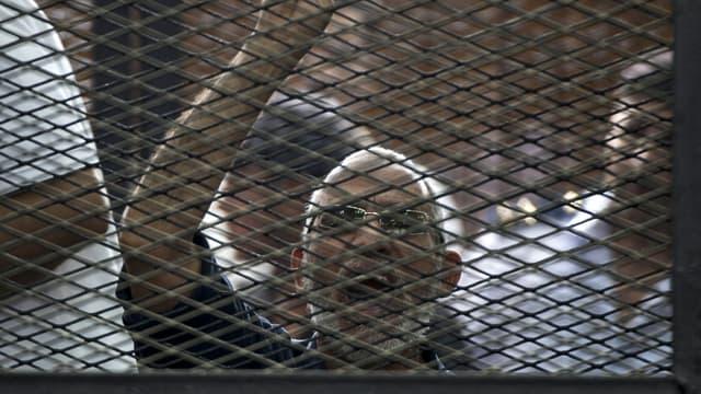 Le chef des Frères musulmans, Mohammed Badie, lors de son procès, au Caire, le 7 juin 2014.