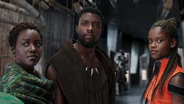 """Chadwick Boseman, Letitia Wright, Lupita Nyong'o dans """"Black Panther"""", en salles depuis le 14 février 2018"""