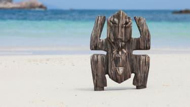"Le fameux totem de ""Koh-Lanta"""