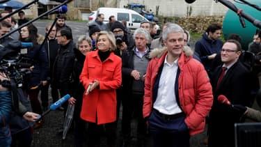 Laurent Wauquiez et Valérie Pécresse lors d'un déplacement en janvier.