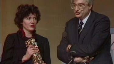 Colo Tavernier et son  César, au côté de son ex-mari Bertrand Tavernier