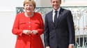La chancelière allemande Angela Merkel et le président français Emmanuel Macron, à Meseberg le 19 juin.