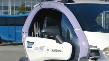 """Le """"Lutz Pathfinder"""" a parcouru un kilomètre en mode 100% autonome. Totalement électrique, il se base sur un Renault Twizy."""