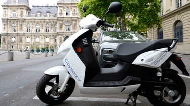 Le scooter électrique du service Cityscoot (image d'illustration)