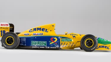 La Benetton qui a vu Nelson Piquet, et sa relève Michael Schumacher, concourir en F1 sera vendue aux enchères le mois prochain à Monaco.