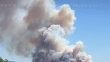 L'incendie près d'Aix-en-Provence, le 1er août 2016 (photo d'illustration)