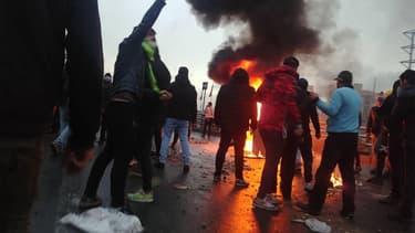 Des manifestations à Téhéran, le 16 novembre.