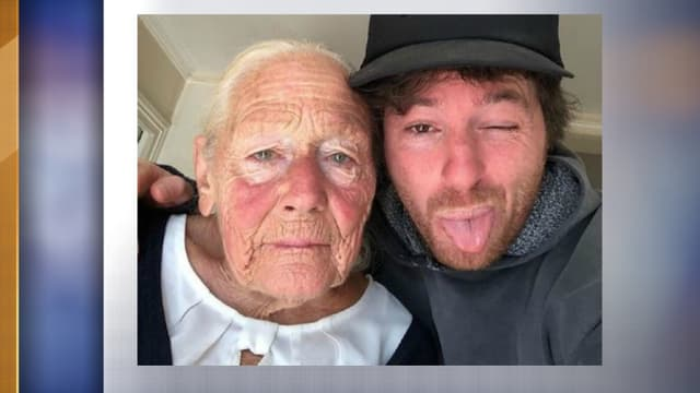 Jean Imbert et sa grand-mère