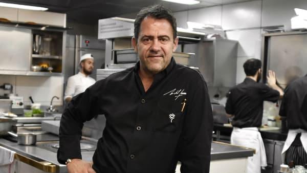 Michel Sarran dans son restaurant à Toulouse en 2016