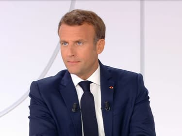 Emmanuel Macron lors de son interview du 14 juillet 2020.