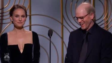 Natalie Portman et Ron Howard lors de la 75e cérémonie des Golden Globes
