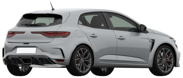La nouvelle Mégane RS dispose d'attributs sportifs comme des prises d'air à l'avant et à l'arrière.