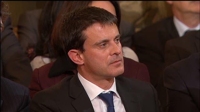 Manuel Valls, lors de la conférence de presse de François Hollande, le 13 novembre.