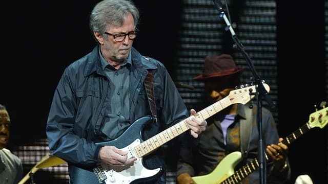 Eric Clapton en 2013 sur la scène du Madison Square Garden à New York.