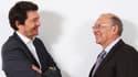 Bertrand à droite et Olivier Passot à gauche, aujourd'hui à la tête de l'entreprise familiale.
