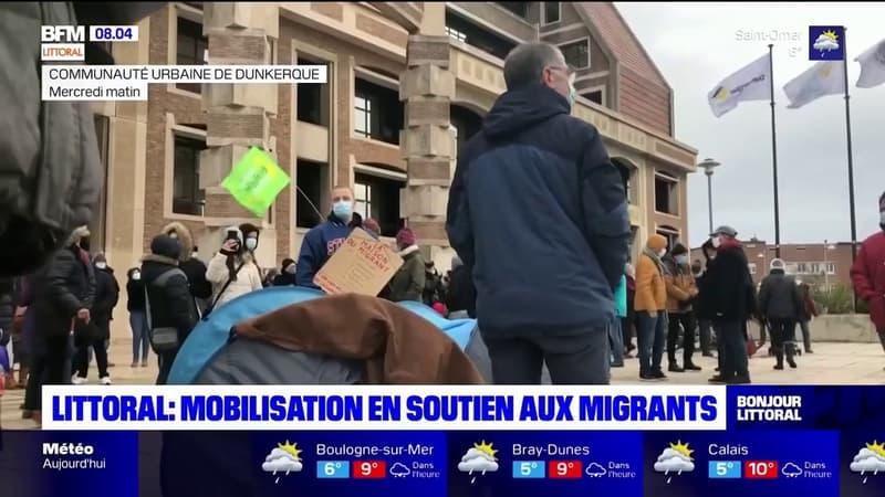 Littoral: mobilisation à Dunkerque en soutien au migrants