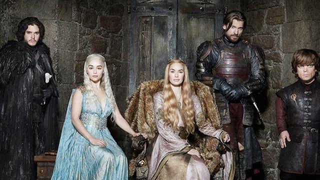 Jon Snow, Daenerys Targaryen, Cersei, Jaime et Tyrion Lannister, les héros de Game of Thrones (encore vivants).