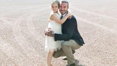 David Beckham et sa fille Harper