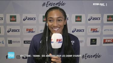 """Solene Ndama : """"J'espère être sur le podium du Pentathlon"""""""
