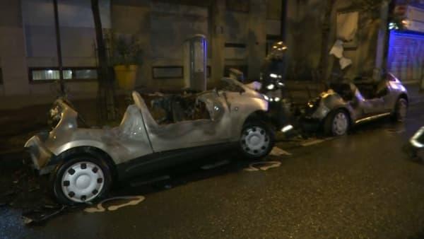 Deux Autolib ont été incendiés.