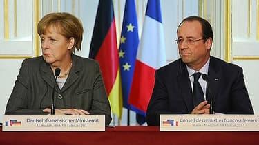 François Hollande et Angela Merkel mercredi 19 février à l'Elysée