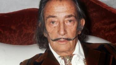 Le peintre espagnol Salvador Dali, le 13 décembre 1972 à Paris.