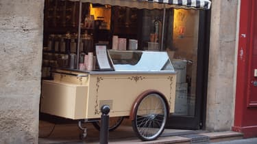 Marchand de glaces. (illustration)