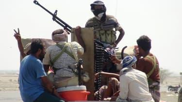 Les forces progouvernementales yéménites à Hodeida