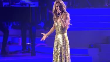 Céline Dion sur la scène du Colosseum au Caesars Palace de Las Vegas, le 8 juin 2019